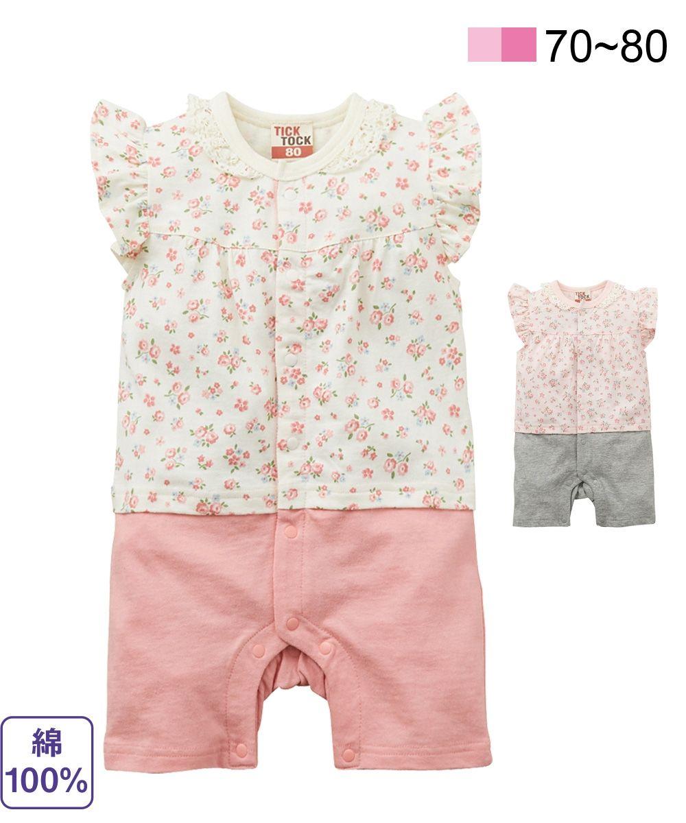 9d8afe7e52fda 小花柄プリントロンパース(女の子 子供服・ベビー服) 通販 ニッセン  -