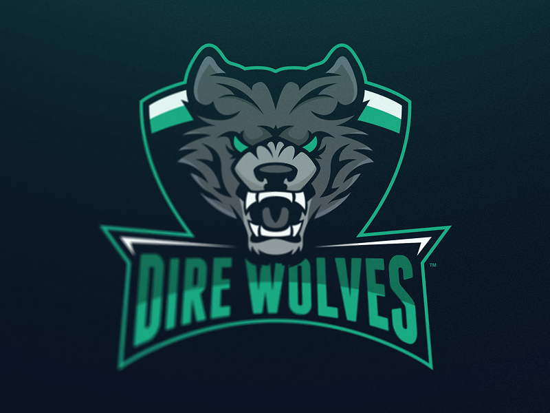 dire wolves mascot logo dire wolf logos and sports logos
