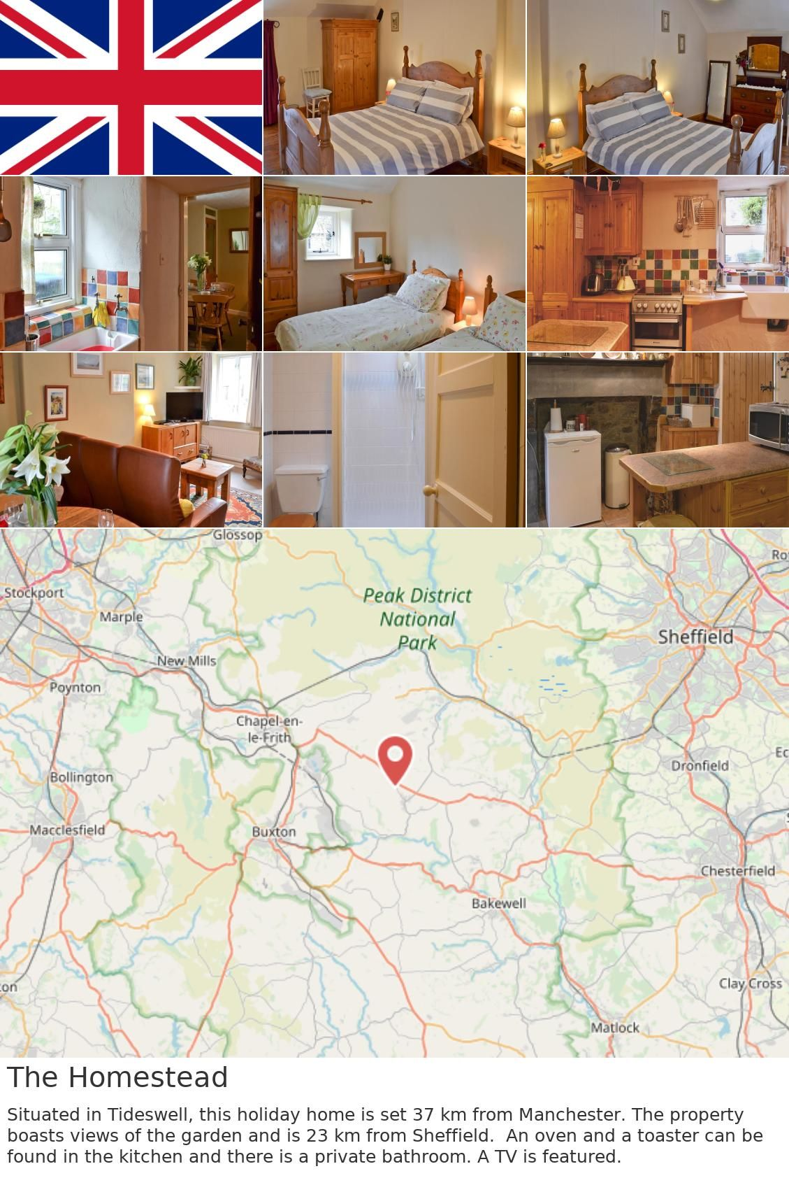 britain uk tideswell The Homestead. Situated in