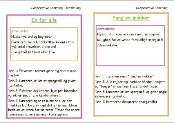 En For Alle Og Fang En Makker Undervisning Laering Flashcards