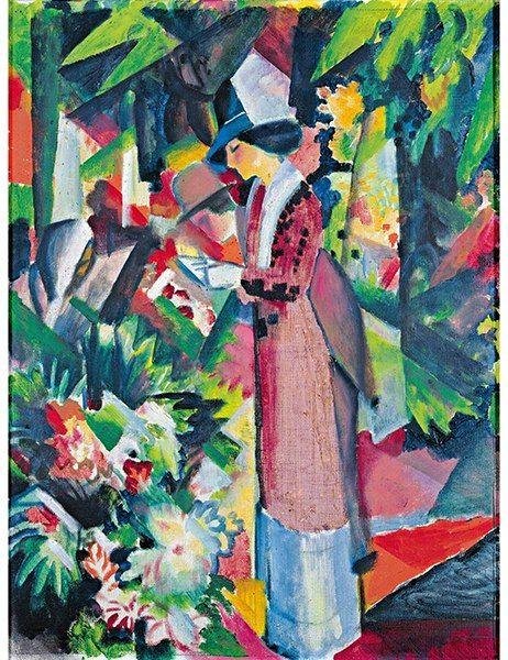 Walk in Flowers, 1912, August Macke.