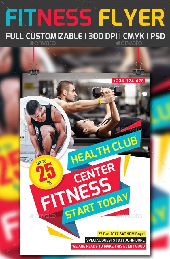 Fitness Flyer PSD Psd templates, Flyer template and Flyer printing - fitness flyer template