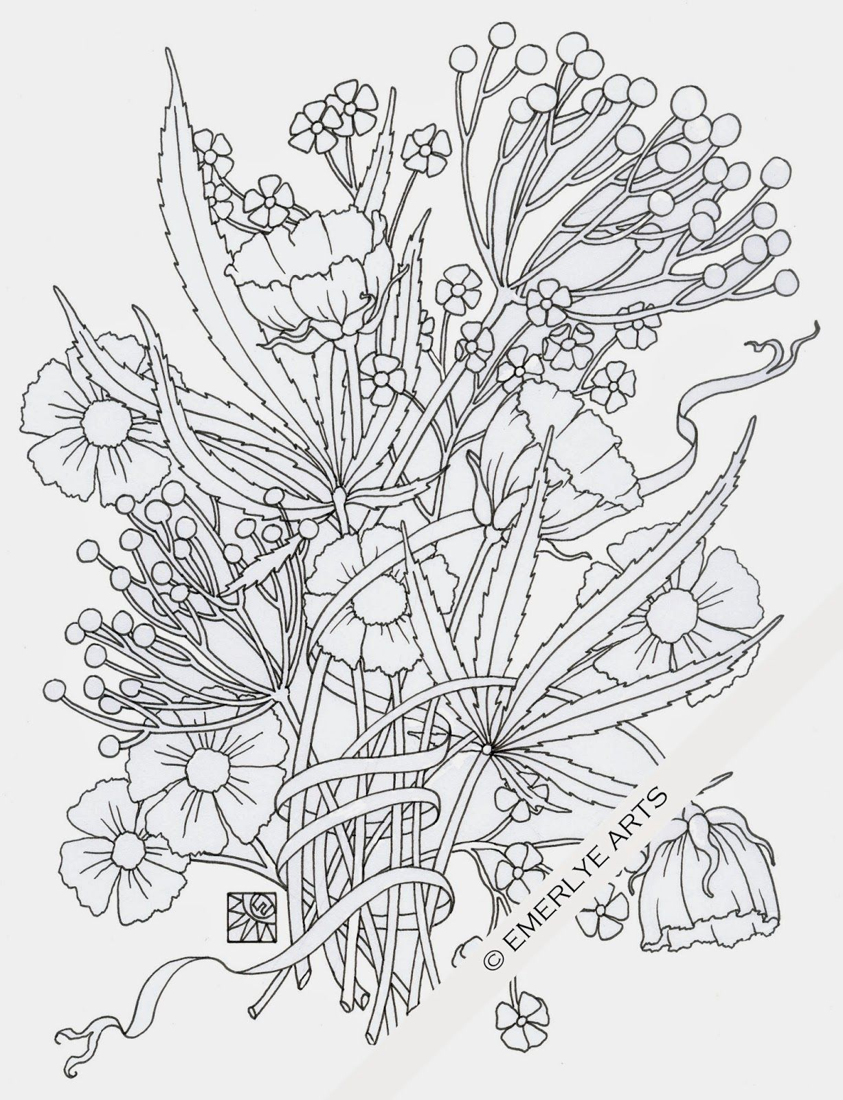 """""""Weedy Friends"""" - an adult coloring page in honor of 4-20 ..."""