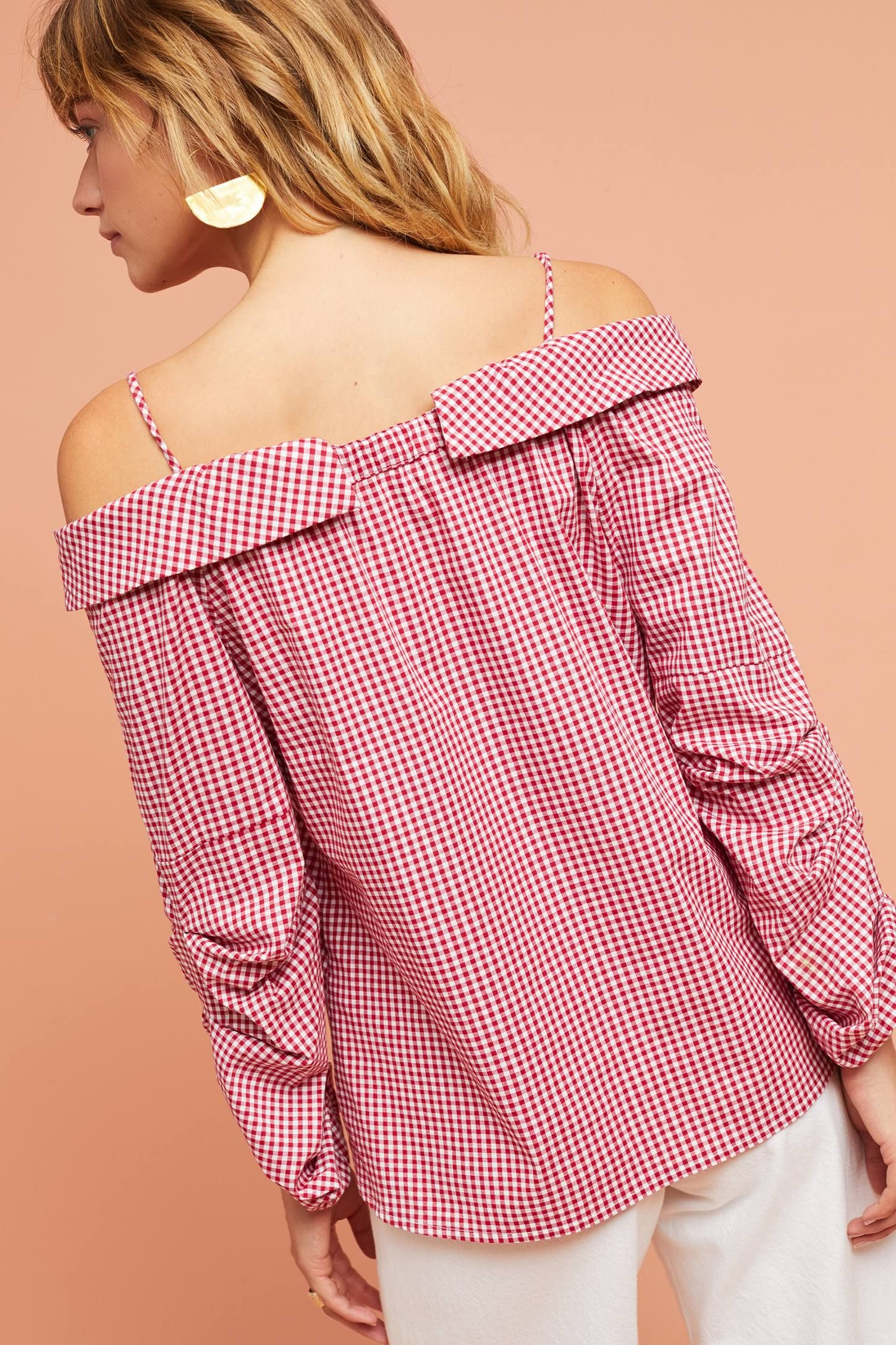 Adalie Open-Shoulder Buttondown | Pinterest | Shoulder and Anthropologie