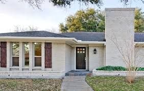 Image Result For White Brick Ranch House With Wood Stained