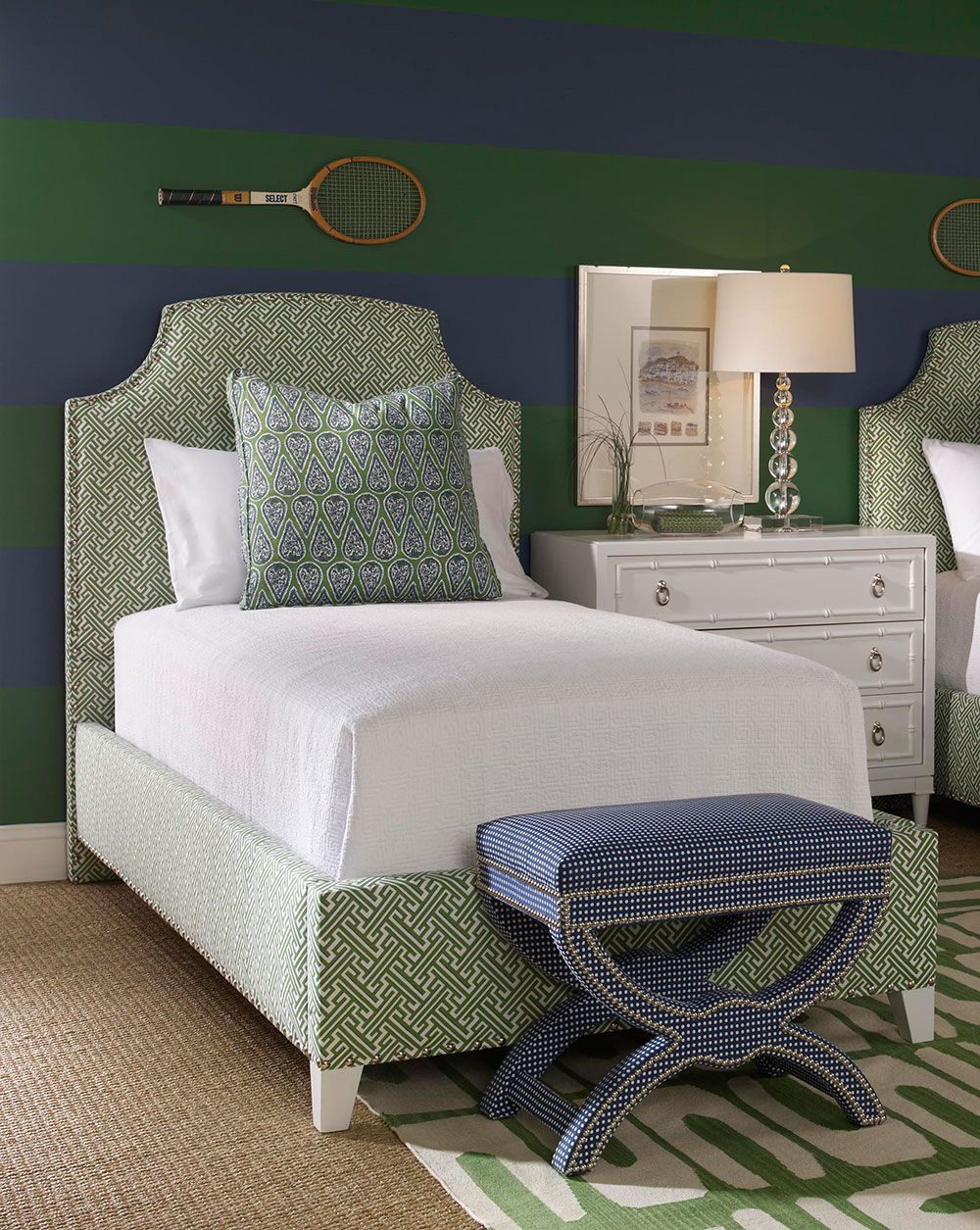 Bedroom interior roof the bonnie and bruno twin upholstered beds available from the tin