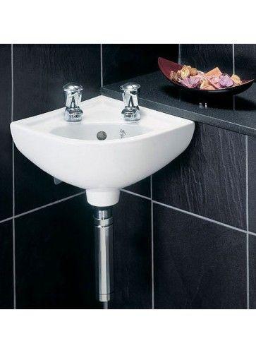 Rak Cloakroom Corner Basin 2 Tap Hole Corner Basin Corner Sink