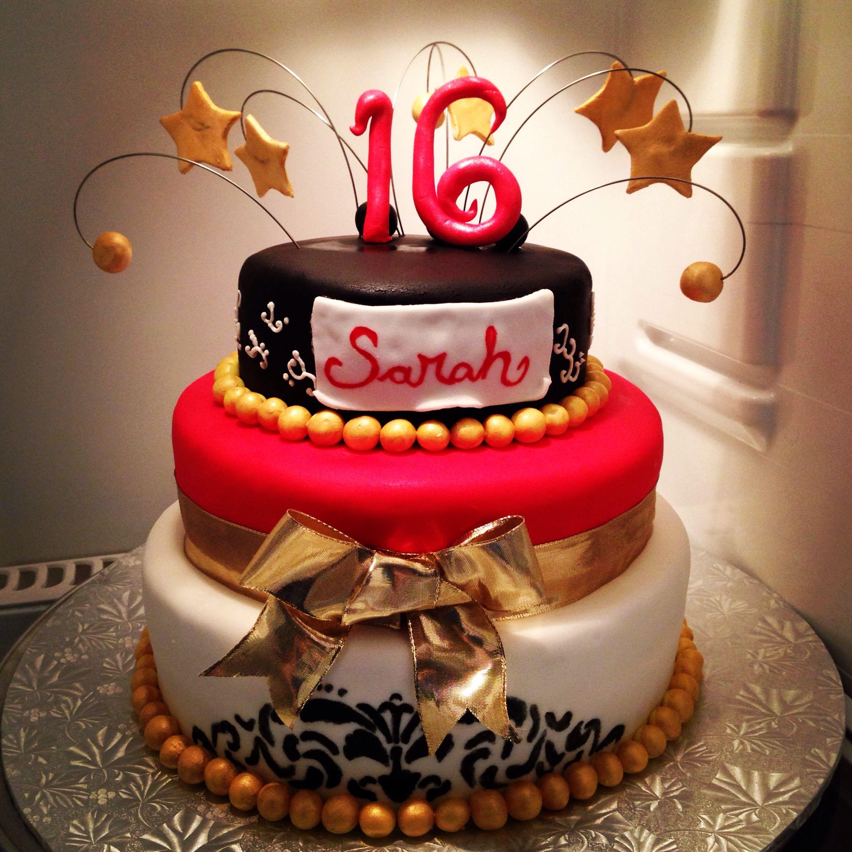 Sweet 16 Three Tier Cake