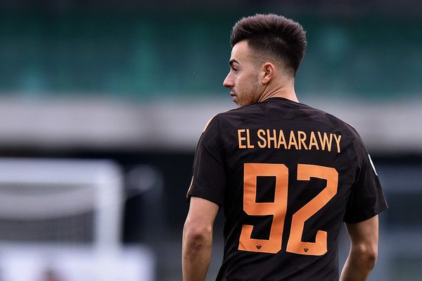 Stephan El Shaarawy Photos - Stephan El Shaarawy of Roma looks on during  the Serie A match between AC Chievo Verona and AS Roma at Stadio  Marc Antonio ... eb44e14c8bf56