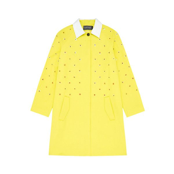 World Clique Coat in Lemon ($225) ❤ liked on Polyvore featuring outerwear, coats and yellow coat