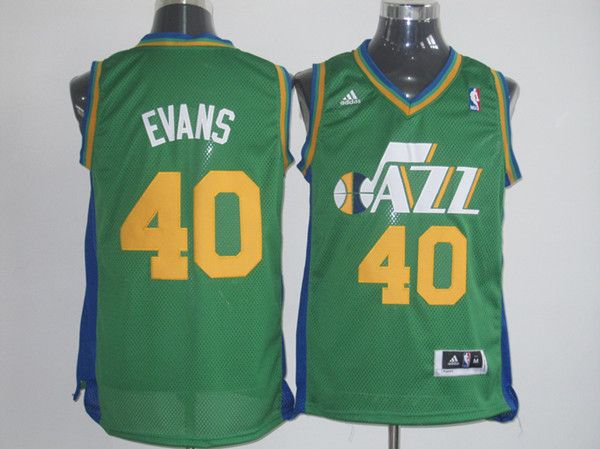 huge selection of 787f8 28d33 Evans #40 Utah Jazz green jersey   Wholeasale quality ...