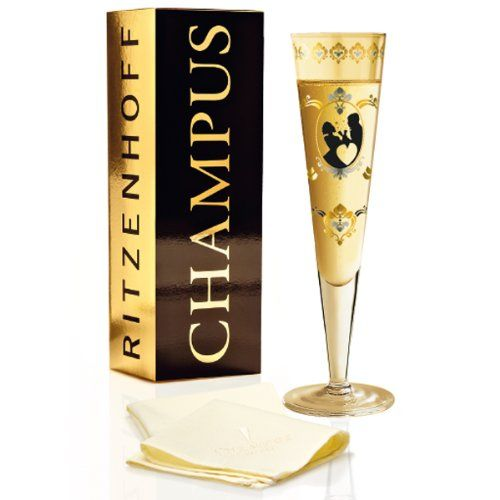 Ritzenhoff Champagne Glass With Napkin By Designer Formfindung Want To Know More Click On The Image Glass Champagne Flutes Champagne Flute Set Glassware