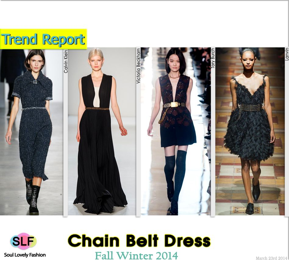 Chain Belt Dress #Fashion Trend for Fall Winter 2014 #Fall2014 #Fall2014Trends #FashionTrends2014