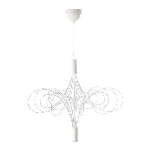 älvsbyn lustre à del ikea les tubes avec del créent des effets lumineux