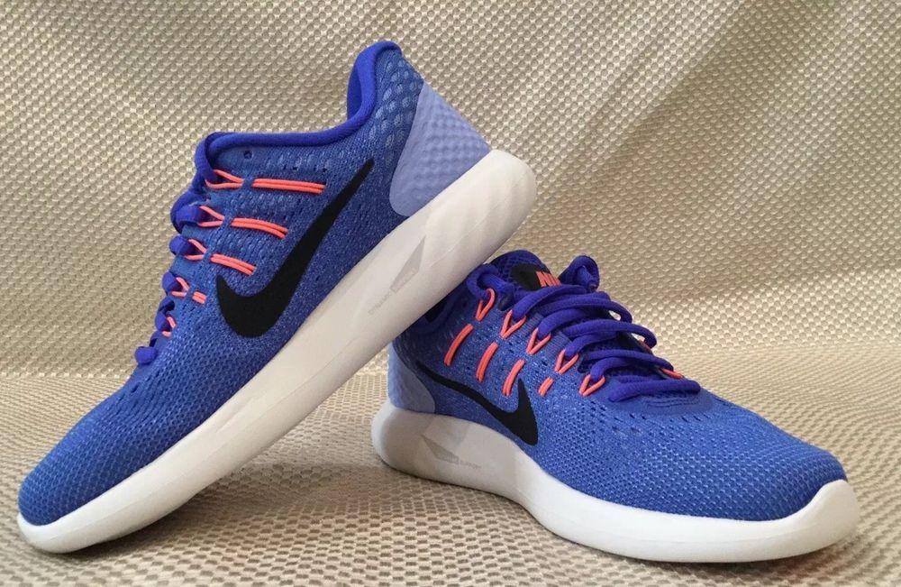 384b28285dc4 NEW Womens Nike Lunarglide 8 Running Shoes Size 9 AA8677-406 Super Cute!