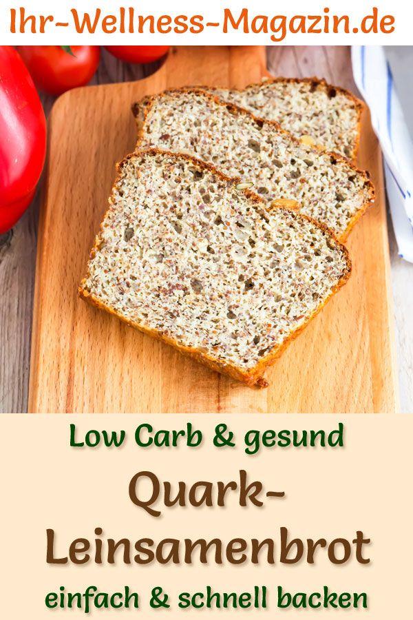 Low-Carb-Quark-Leinsamenbrot zum Abnehmen - gesundes Rezept zum Brot backen #flaxseedmealrecipes