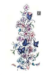 Photo of Frauen Blume und Schmetterling Tattoo Schulter – Buscar con Google #backsidetatt…