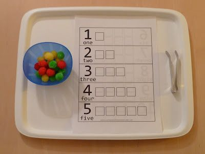 Teaching Counting with Pom Poms