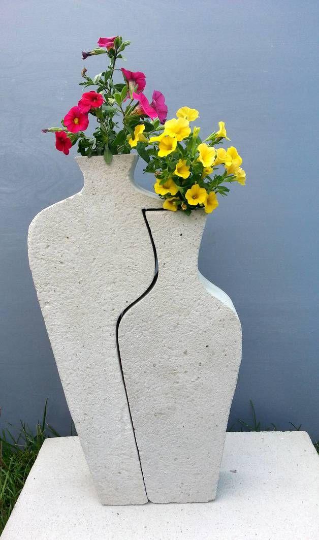 deko objekte beton giessform puzzle vasen wundersch n ein designerst ck von bif hermes bei. Black Bedroom Furniture Sets. Home Design Ideas