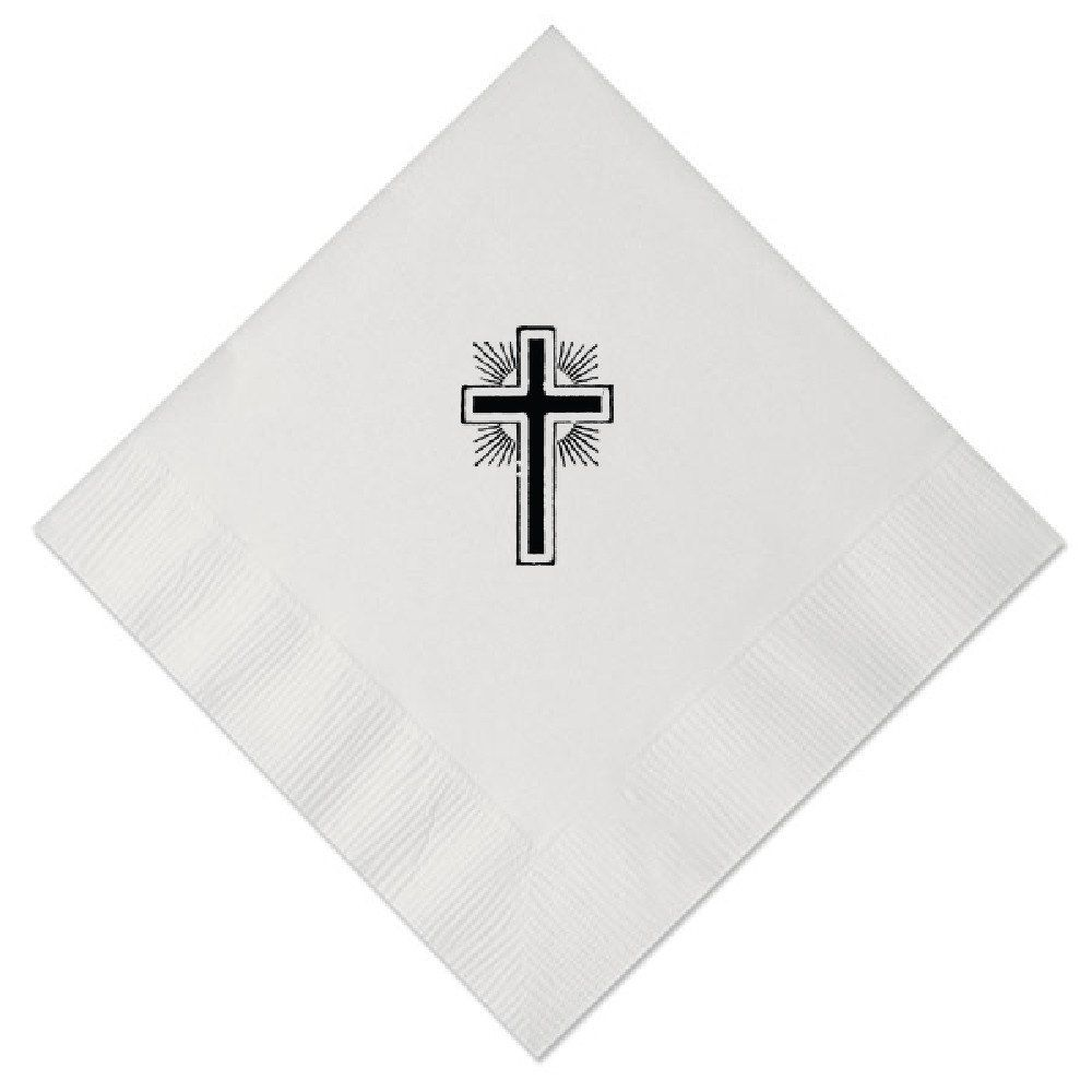 Personalized napkins cross confirmation baptism custom printed monogrammed beverage cocktail luncheon guest towels dinner paper RR80267 by PersonalKitten on Etsy https://www.etsy.com/listing/263130337/personalized-napkins-cross-confirmation