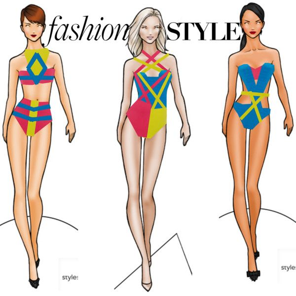 Fashion  Swimwear  Collection by coppin-s on Polyvore featuring French Connection, Adrianna Papell and WearAll