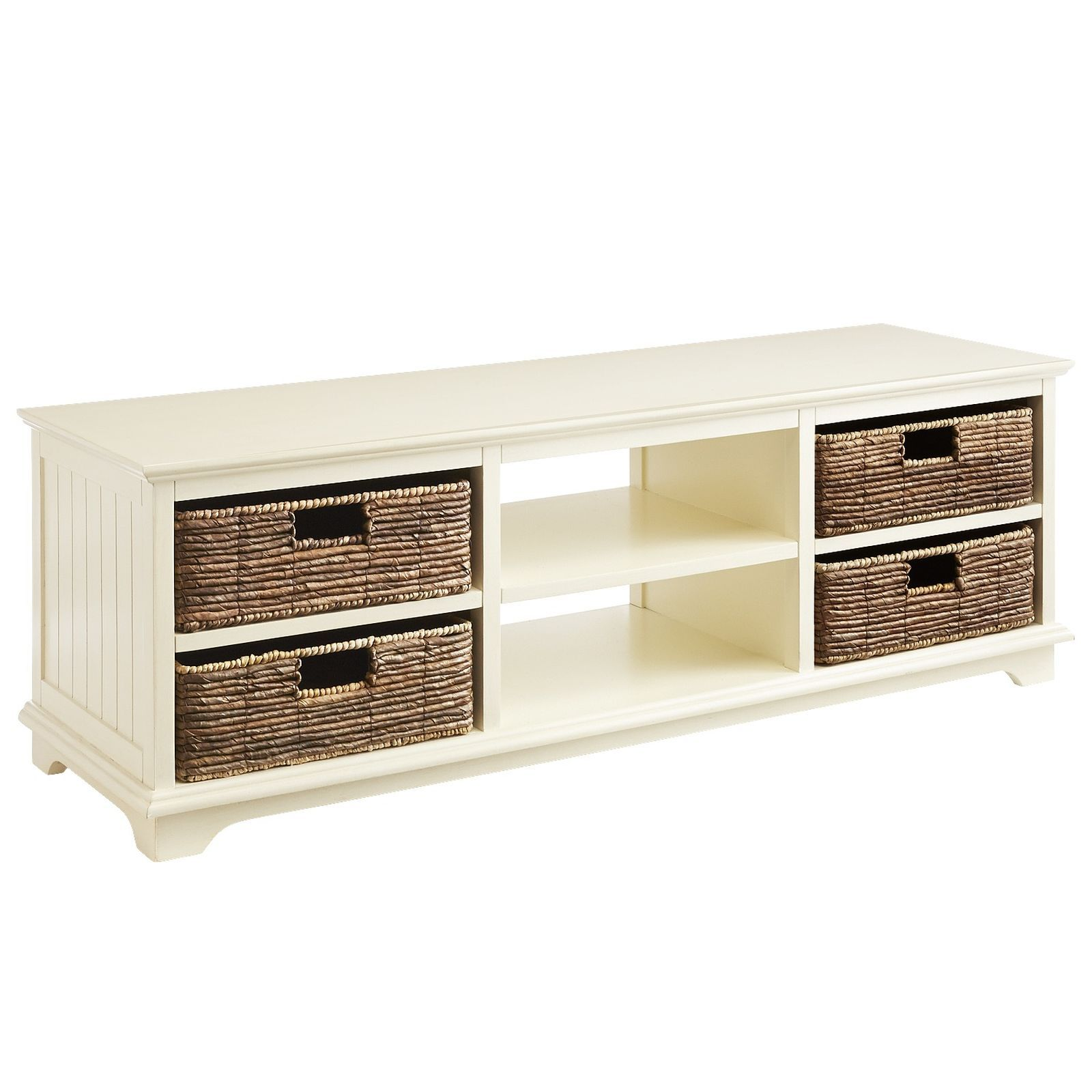 Storage Doesn T Have To Be Stark Our Handsome Tv Stand Features
