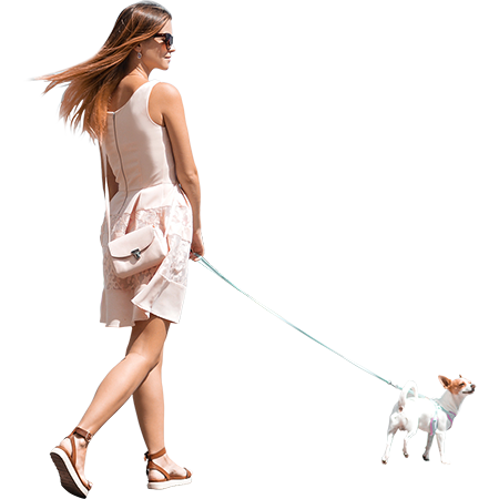 Female Model With Model Dog People Cutout People Png Walking Poses