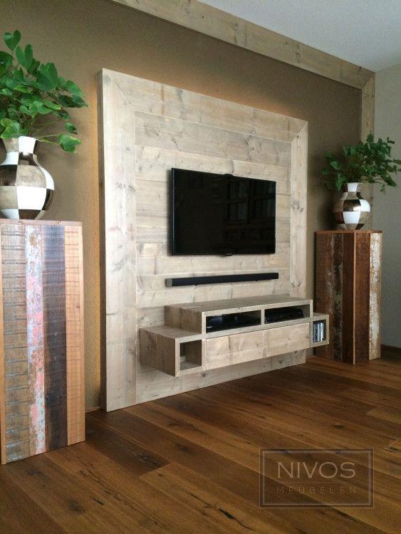 Wand-tv-meubel-van-steigerhout-ledverlichting.jpg (563×750 ...