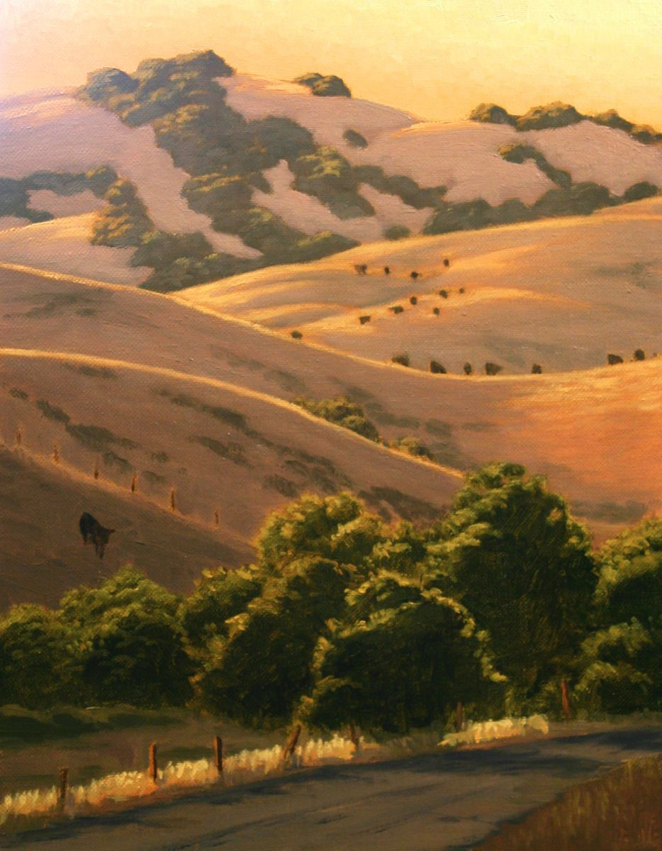 northern california landscape painting california hills in summer