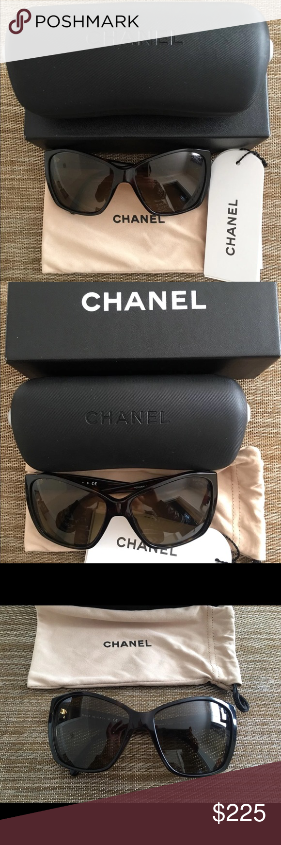 91d60989a13 Chanel brown sunglasses! Barley used brown sunglasses comes with box
