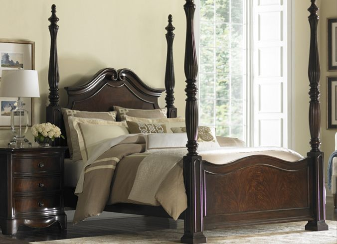 Bedroom Furniture, Sutton Place King Poster Bed, Bedroom ...