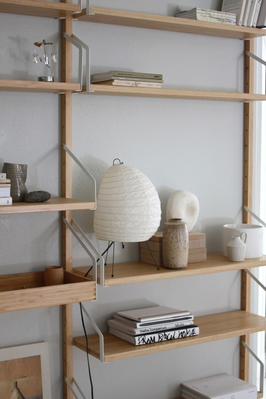 Slightly christmas ready interiors shelves and spaces