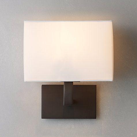 Bronze Wall Lights: Buy John Lewis Connaught Wall Light, Bronze Online at johnlewis.com - 65,Lighting