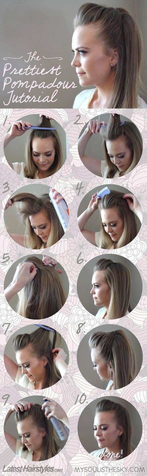Cute pompadour hairstyle hair pinterest pompadour hairstyle