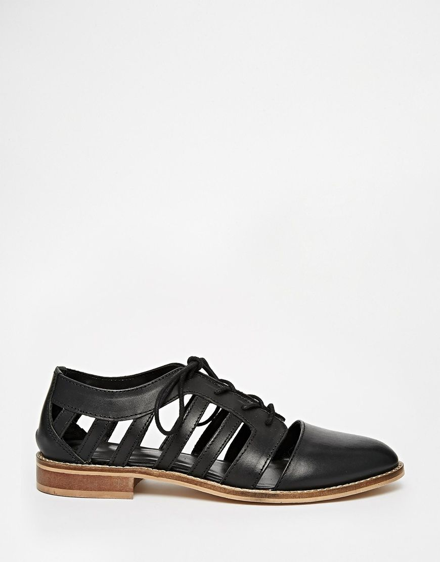 Image 2 ofASOS MELS Leather Flat Shoes