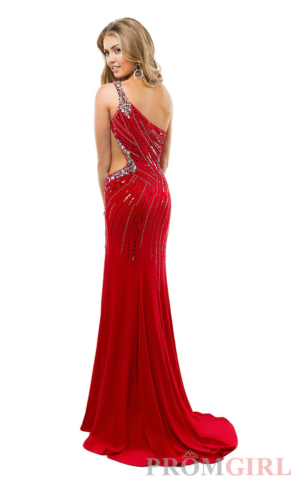 d1b5885a183 Prom Dresses, Celebrity Dresses, Sexy Evening Gowns - PromGirl: Long One  Shoulder Dress with Side Cut Out