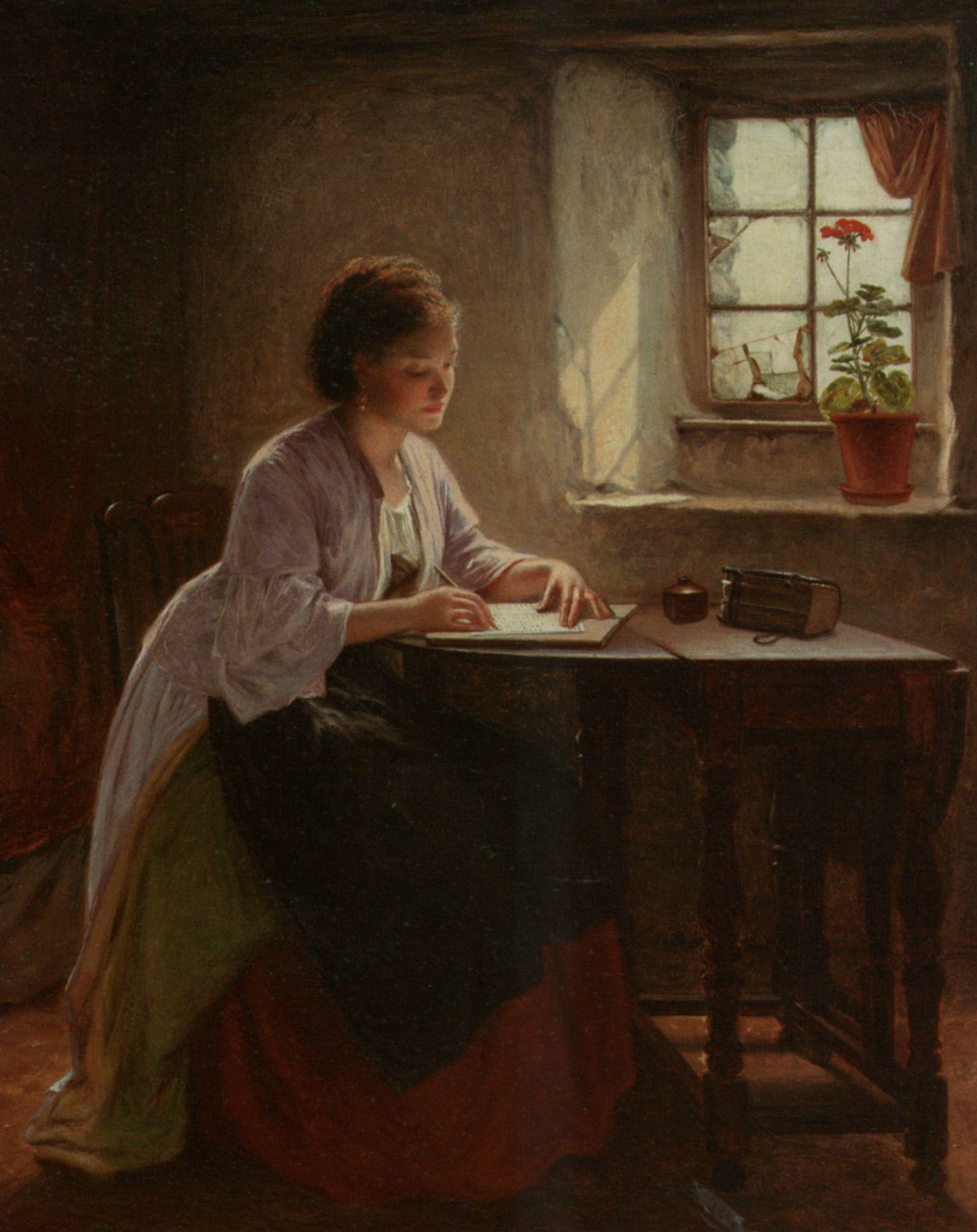 The Letter Haynes King Romantic scenes, Painting, Art