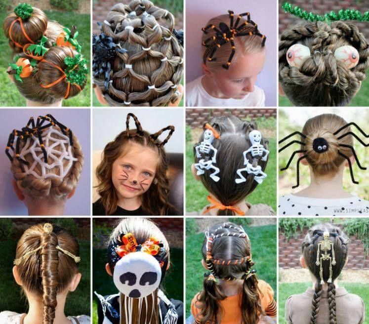 16 Most Creative DIY Halloween Hairstyles for kids
