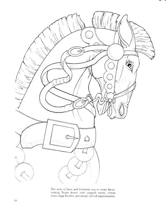 Carousel Animals Coloring Book Bobogirl Vah Picasa Web Albums