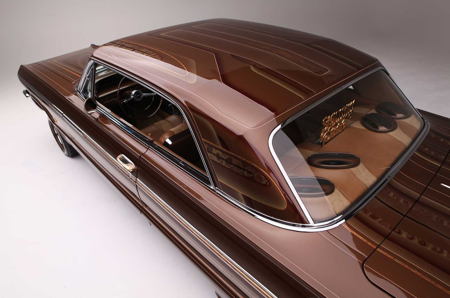 We don t see a lot of cars done well in brown but ciji ulloa s 1964 chevrolet impala wears it very well