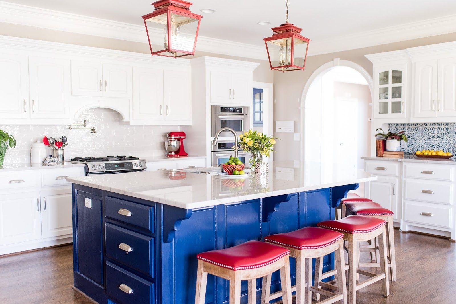 Best Red White Blue In 2020 Blue Kitchen Decor Red 400 x 300