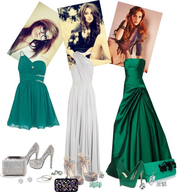 slytherin house Yule ball outfits\