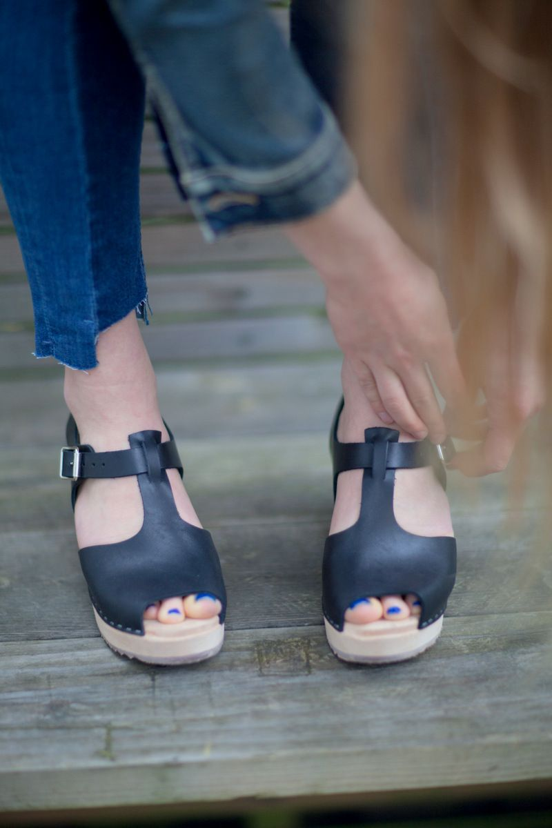 07048186a65 Highwood T-bar Open Toe Clogs - Lotta From Stockholm   MY STYLE ...