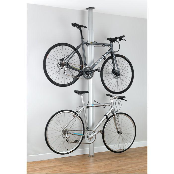 Gear Up Bua Aluminium Floor To Ceiling 2 To 4 Bike Rack 161 99 Diy Bike Rack Bike Storage Apartment Bike Storage