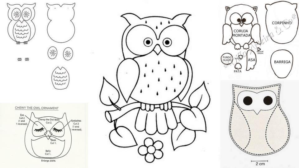 Patrones de Buhos buenas ideas Pinterest Needlework Embroidery designs and Glas
