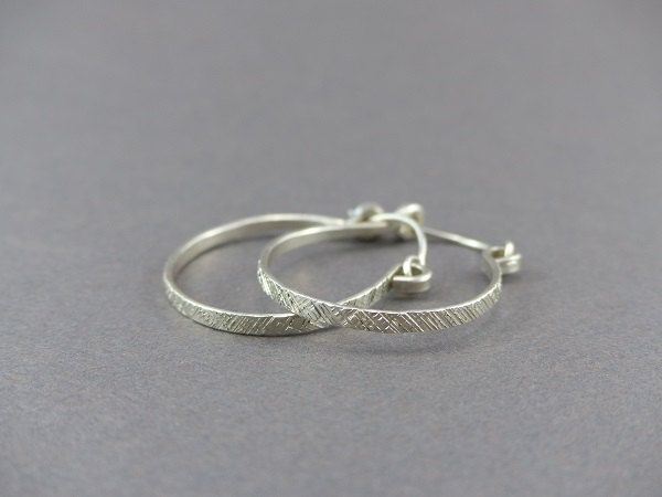 Sterling Silver Hoop Earrings For Women Small Earring Hoops Handmade Lightweight