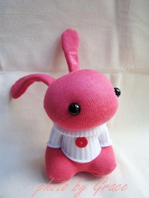 sock bunny | Christmas ornament | Pinterest | Sockentiere, Socken ...