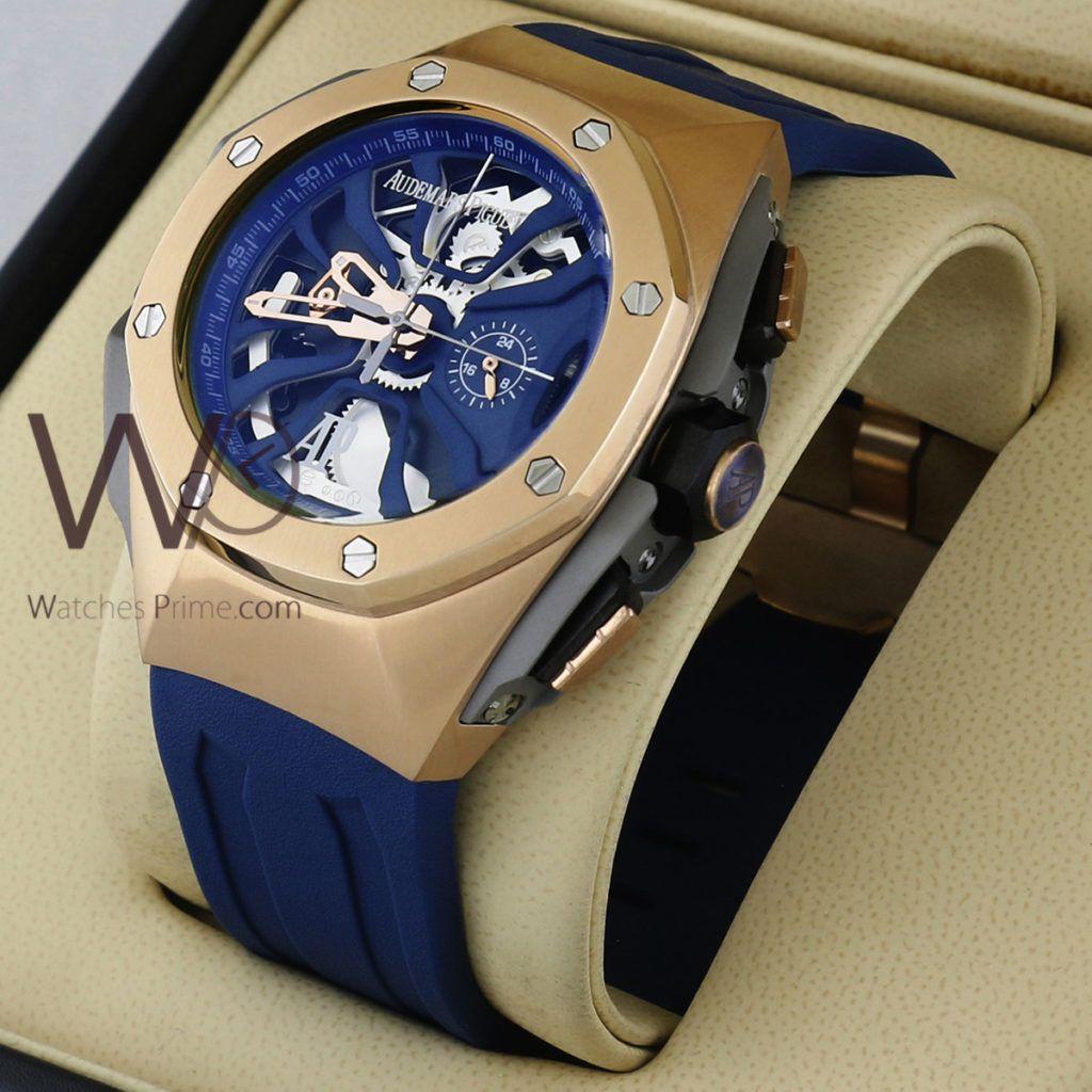 ساعة Audemars Piguet تعمل بعدادات بلون رصاصى وسيرفضى من المعدن Watches Prime Wearable Rolex Smart Watch