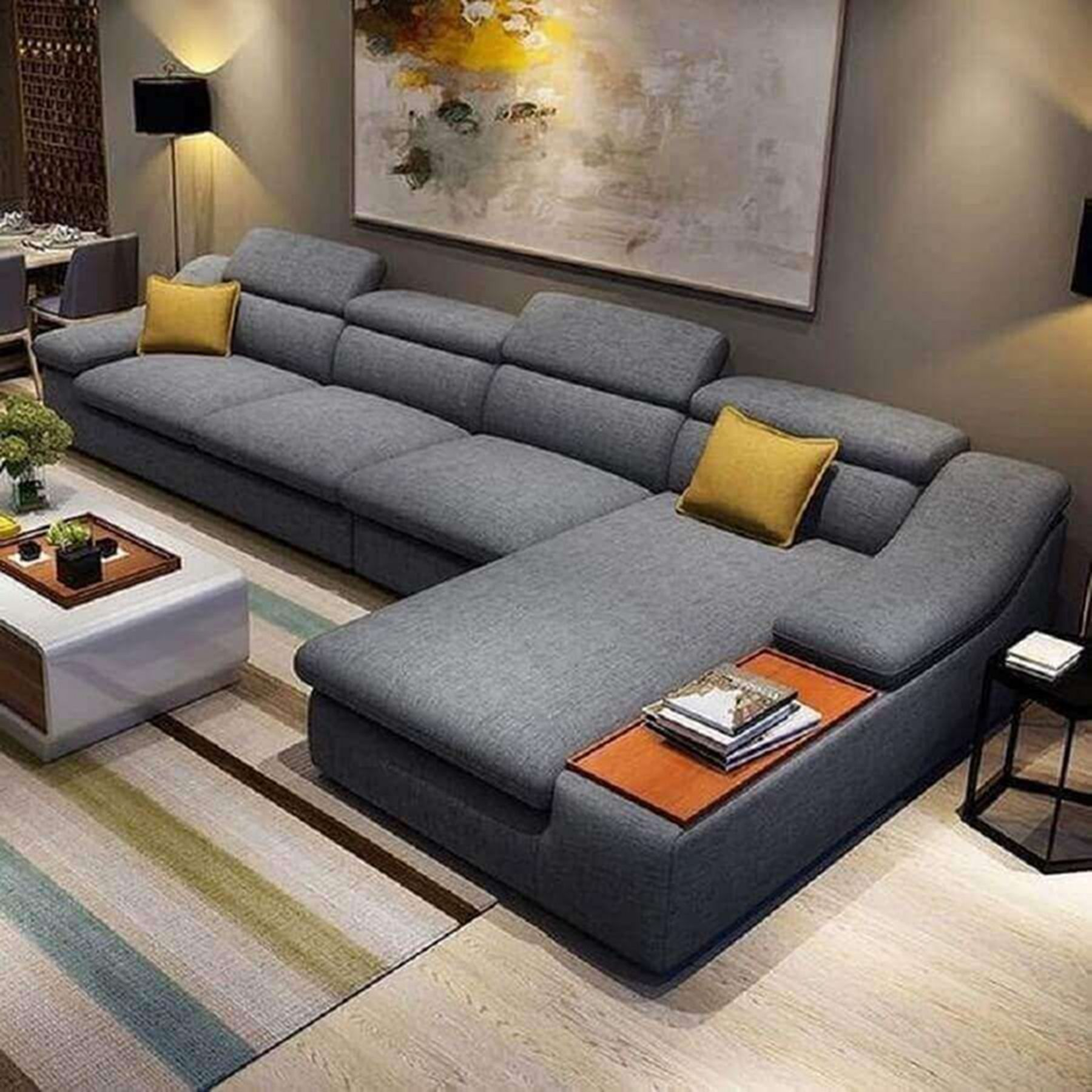 12 L Shaped Sofa Furniture Ideas For Awesome Modern Living Rooms 10 Furniture Design Living Room Living Room Sofa Design Room Furniture Design