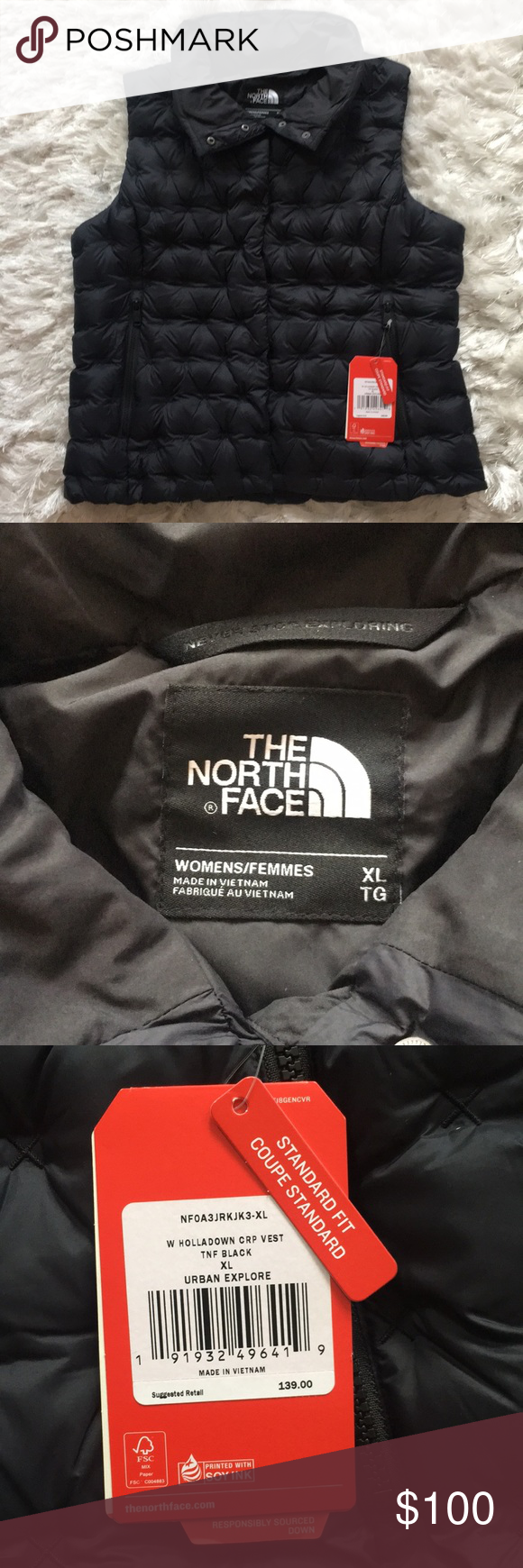 Nwt The North Face Womens Xl Down Puffer Vest North Face Women North Face Jacket The North Face [ 1740 x 580 Pixel ]